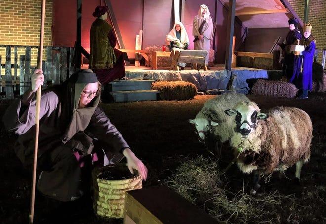 Live drive-thru nativity at Ironbridge Baptist Church in Chester on Dec. 19, 2020.