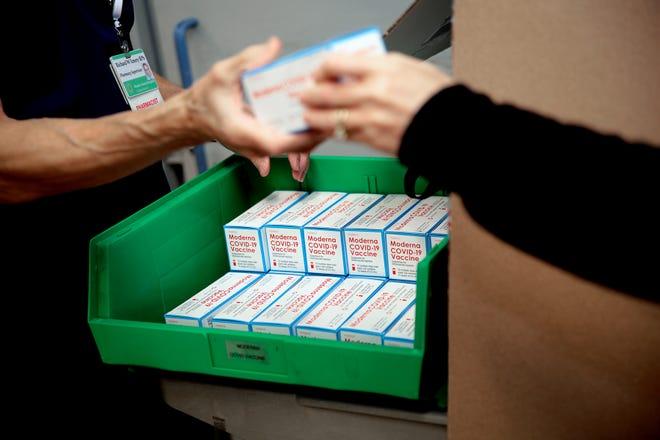 Moderna COVID-19 vaccine arrives at Rhode Island Hospital in mid-December.