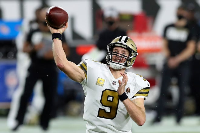 Drew Brees and the New Orleans Saints will host the Minnesota Vikings on Friday.