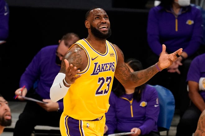 LeBron James and the Los Angeles Lakers host the Dallas Mavericks on Friday night.