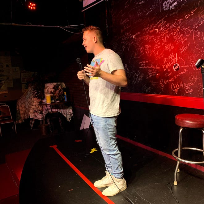 Carter Dougherty will perform Saturday at The Funny Stop in Cuyahoga Falls as a feature act with headliner Mike Conley. He will also perform on Tuesday as part of the Back to the Co-Feature Contest finals.