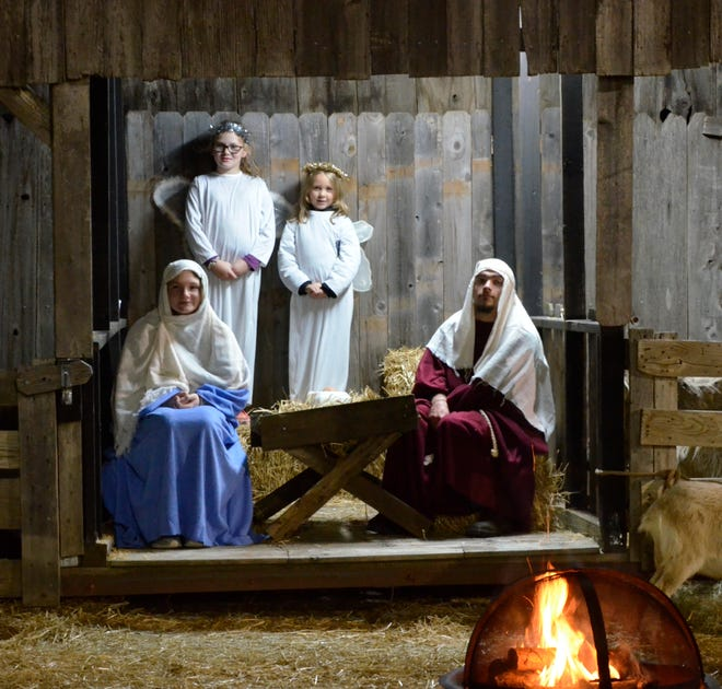 A picture from the 2019 Live Nativity at Redeemer Lutheran Church in Shawnee.