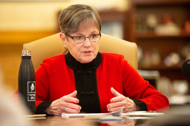 Gov. Laura Kelly talks with The Topeka Capital-Journal on Wednesday from her office in the Statehouse.