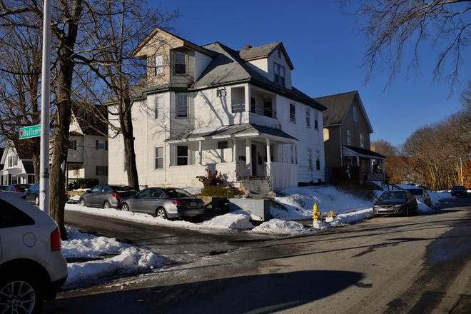 21 Coes St., Worcester, the address of one of the suspects.