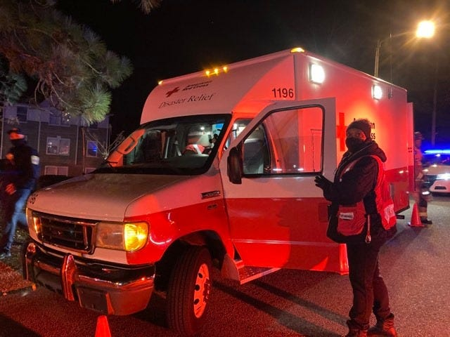 American Red Cross volunteers are helping guests of the Clarion Hotel with alternatives to shelter and provide other services due to a fire at the hotel on Jan. 8.