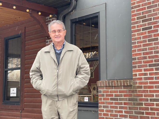 Canal Winchester Mayor Mike Ebert stands outside the former McDorman Auto Museum, which the city plans to turn into its new hub of operations in 2021.