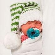 Here is one of the 'Tiny Santas' displayed during Christmas time by Methodist Dallas Medical Center.
