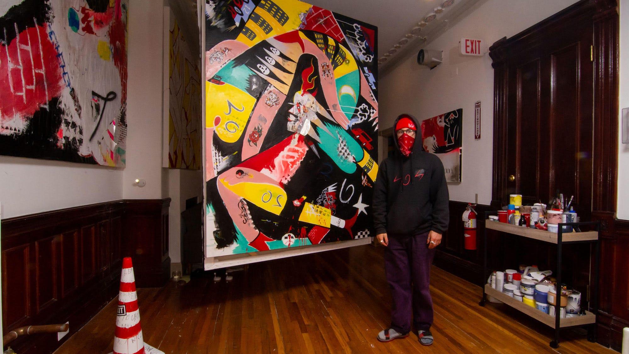 Brookline artist Sam Fish wants to shake up the local art scene