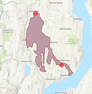 The Kitsap Public Health District issued a no-contact advisory for Dyes Inlet and the Port Washington Narrows Tuesday following several sewage spills.