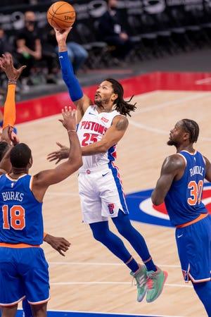 Guard Derrick Rose memasuki musim keduanya bersama Pistons.