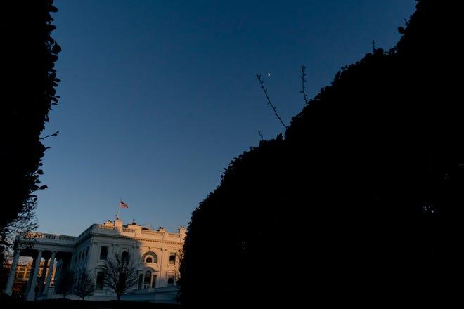 Pemandangan Gedung Putih, Selasa di Washington.