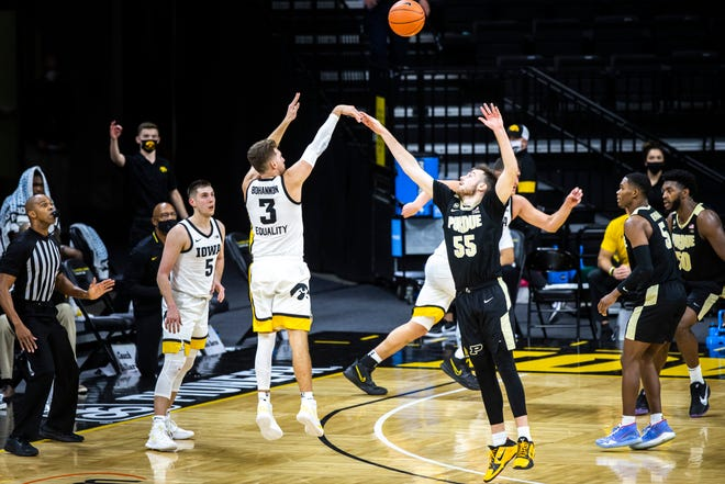 While Jordan Bohannon is known for his 3-point shooting (he is No. 2 in Big Ten history in makes), he is five assists away from becoming the third Hawkeye with four 100-assist seasons (Dean Oliver, Jeff Horner).