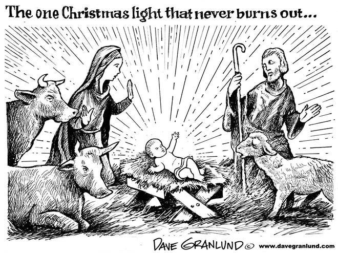 Christmas light.