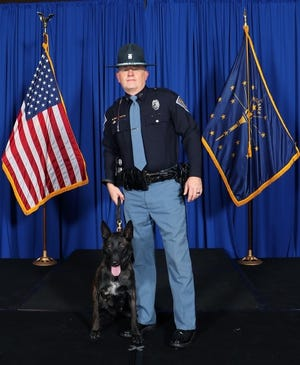 Mika and Senior Trooper Eric Perkins have been assigned to the Pendleton District of the Indiana State Police.