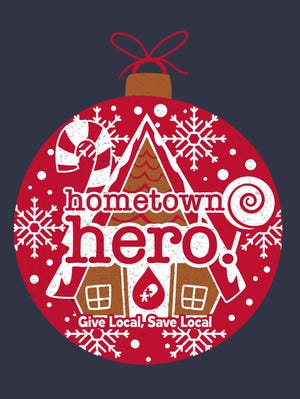 Blood donors will receive a T-shirt with the Hometown Hero design.