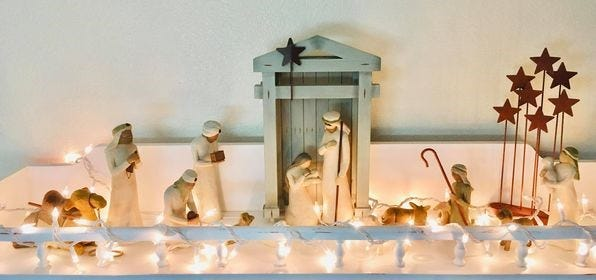 Nicole Bisping shares an image of her nativity scene that her husband purchased for her over the course of five years.