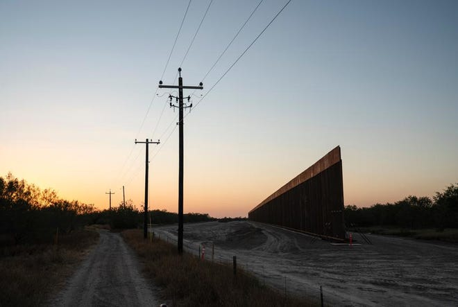 Recent construction of the border wall near La Grulla, Texas, on Dec. 17.