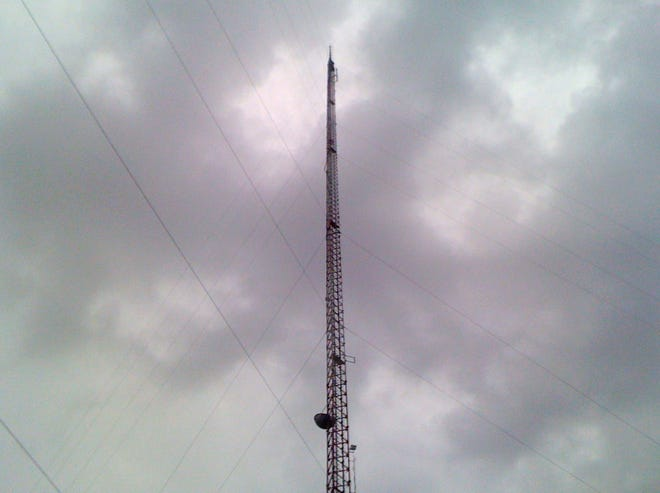 A file photo of a broadcast TV antenna located on Seymour Highway. The Federal Bureau of Investigation (FBI), Dallas Division, and the Wichita Falls Police Department are seeking the public's help in identifying individuals responsible for damage to two communication towers in Wichita Falls in December 2020.