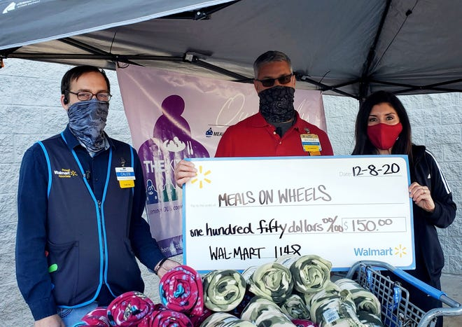 Walmart on Lawrence Road gave $150 in blankets to Meals on Wheels during our 3rd Annual Meals on Wheels Blanket and Sock Drive on December 8, 2020.