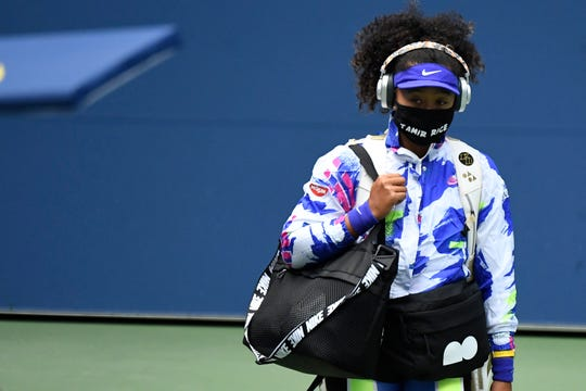 While competing at the U.S. Open this year, Naomi Osaka wore seven different masks, each with the name of a Black victim of police brutality.