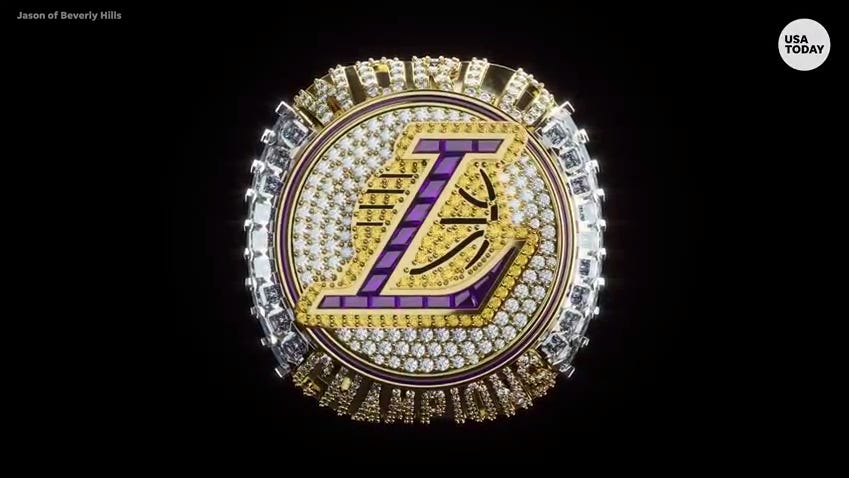 Los Angeles Lakers Receive Record Breaking Size Nba Championship Rings
