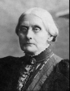 Susan B. Anthony, women's rights leader.