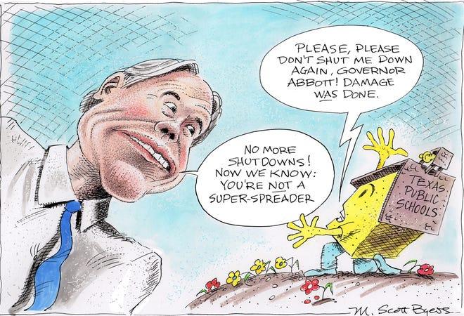 Cartoon by by M. Scott Byers