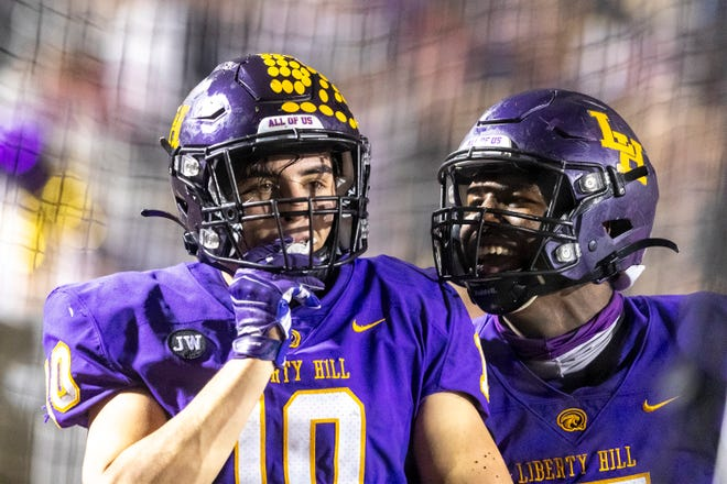 Liberty Hill linebacker Andon Thomas has 101 tackles, 20 tackles for a loss, four fumble recoveries and two interceptions and leads a defense that has scored almost as many points (48) as it has allowed (59).