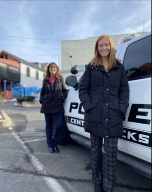 Elizabeth Leone, right, and Karen Edwards are crime victim specialists for Central Bucks Regional Police, Buckingham police and Plumstead police.