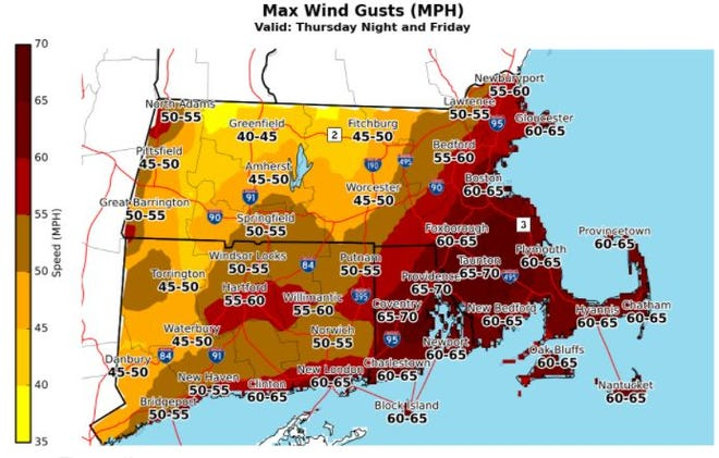 High wind warning and flood watch in effect for Christmas Day