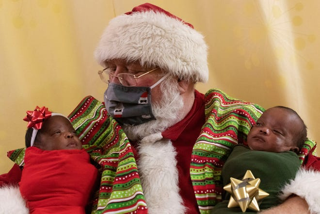 Reminding us that good things come in small packages, Santa Claus made an early visit to University of Missouri Children's Hospital, spending time with newborn intensive care patients dressed in holiday style.