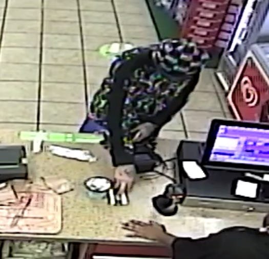 The man seen in this photograph used a credit card at a Whitehall convenience store that had been stolen from a home in Hilliard. Anyone with information about his identity is asked to call Central Ohio Crime Stoppers.