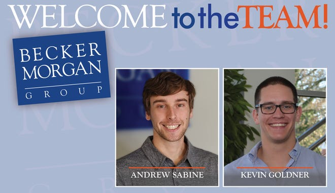 Becker Morgan Group announced the growth of its civil engineering department with the addition of two new civil designers, Andrew Sabine and Kevin Goldner.