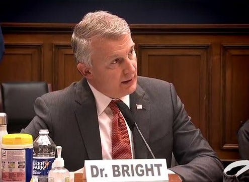 Dr. Rick Bright testifies  before a House subcommittee in May. Bright, part of President-elect Joe Biden's COVID-19 Advisory Board, talked with The News about some of the challenges ahead.