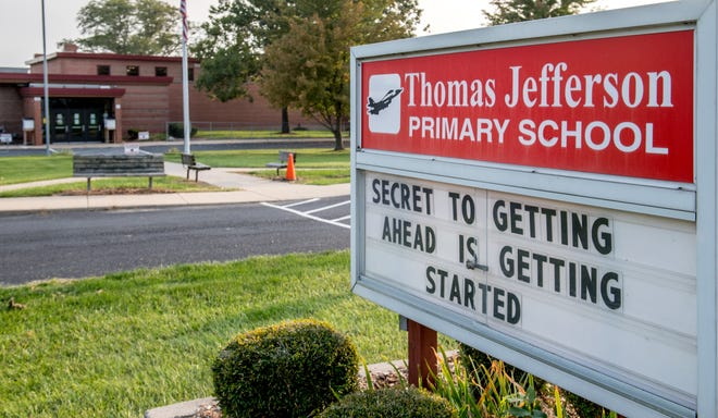 Thomas Jefferson Primary School, 918 W. Florence Ave., Peoria, is seen in a Sept. 23, 2020, file photo.
