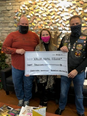 The Northfield VFW Post 6768 Riders, Veterans and Auxiliary presented their yearly check to the Harry J Donovan Valor Home in Akron.