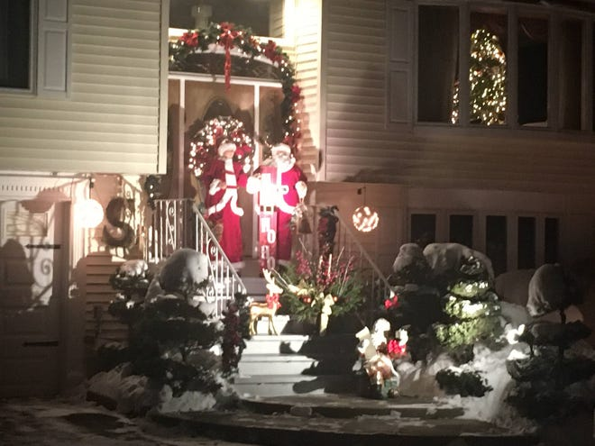 The Serra family of Old Stow Road won the Hudson BID's first annual holiday deocrating contest