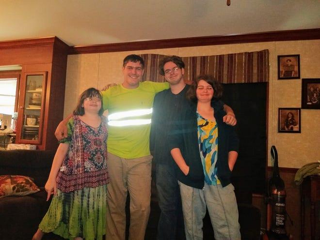 Esther, from left, Nathan, Samuel and Rebekah Higgins