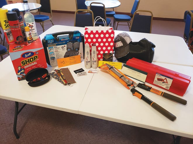 Prizes donated by Pratt businesses and won by ticket-buyers, including those pictured here, from the 2020 Pratt Lions Club annual raffle are available for pickup by calling club president Andy Lee (218) 770-5378.