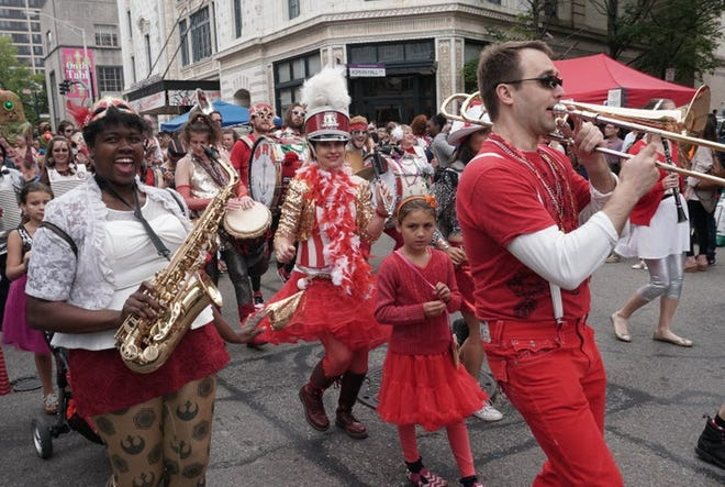 The Extraordinary Rendition Band performs at PVDFest in 2017.