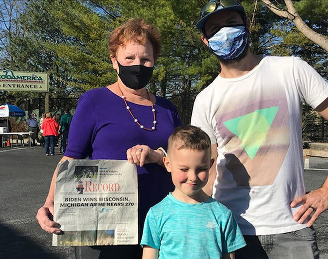 Penny Bellas of St. Augustine recently visited son, Brian, daughter in-law, Anne-Marie and grandson, Oliver in Ephrata, Pennsylvania. While in Pennsylvania, they visited Hershey Park Zoo.