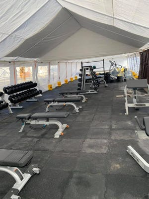 The equipment at the Arctic Tent at the Siskiyou Family YMCA.