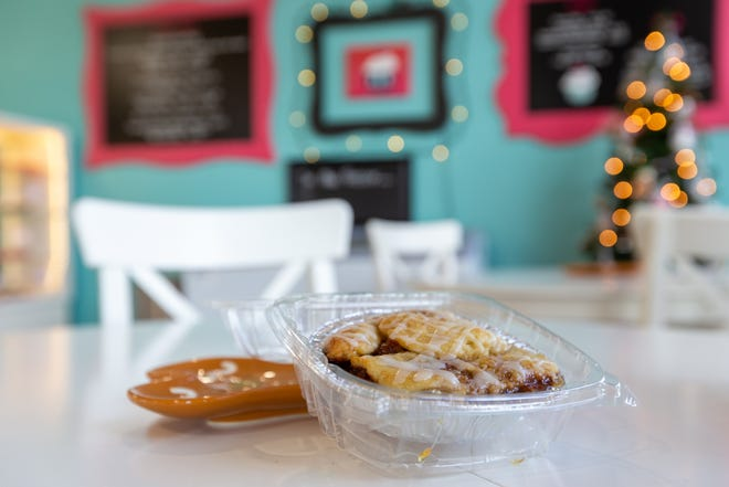What could make an apple pie even better? How about layering it between two cinnamon rolls? Shana Cake, 435 S. Kansas Ave., offers cinnamon roll apple pies for $6.