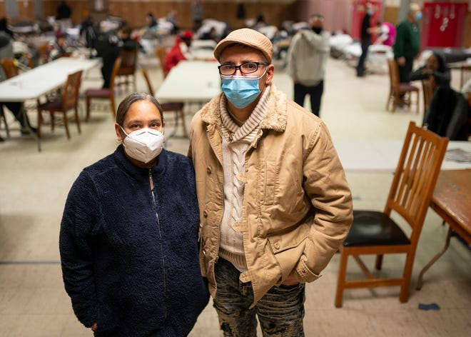 Elizabeth and Richie Gonzalez, founders of Net of Compassion, on Dec. 23 in Worcester.