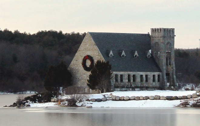With its surroundings of snow and ice, the Old Stone Church, in West Boylston, was postcard perfect for the holiday season.