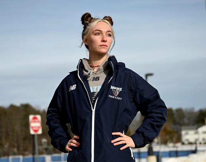 Jess Kroushl, a 2018 Franklin High School graduate, now runs track and field at the University of Maine.