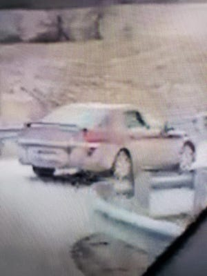 Authorities released a picture of the car Thursday.