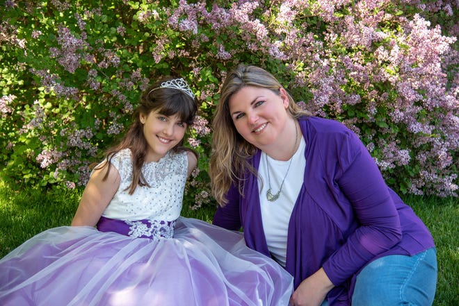 Mercedes Wadkins of Sturgeon Bay, right, started Bellasia Tea when she realized there was no such thing as a children's tea for her daughter, Isabella, left, to drink when having a tea party.