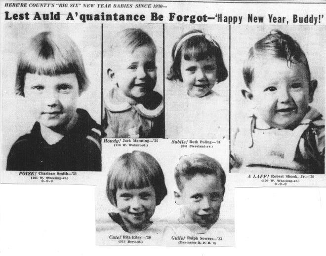 These six children were featured on page 1 of the Eagle-Gazette on Jan. 1, 1937. Each one of them had been born first in a New Year between 1930 and 1936.