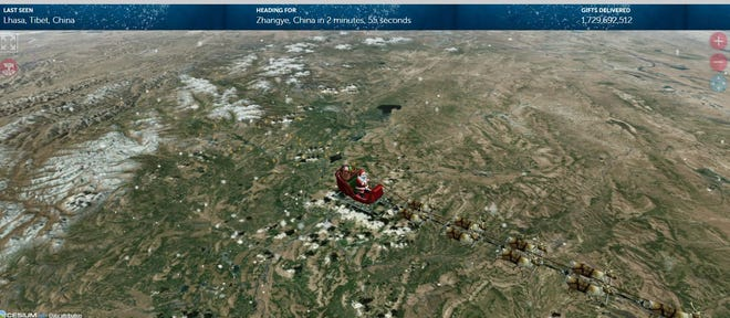NORAD is tracking Santa Claus' every move has he delivers toys around the world.